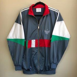 VTG 80s Adidas Zip Up Track Jacket XL Multicolor